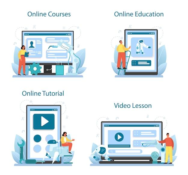 Roboticist 온라인 서비스 또는 플랫폼 세트.