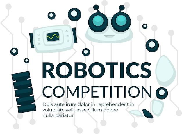 ロボット競技会の展示会または展示ポスター