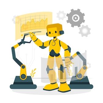 로봇 공학 개념 그림