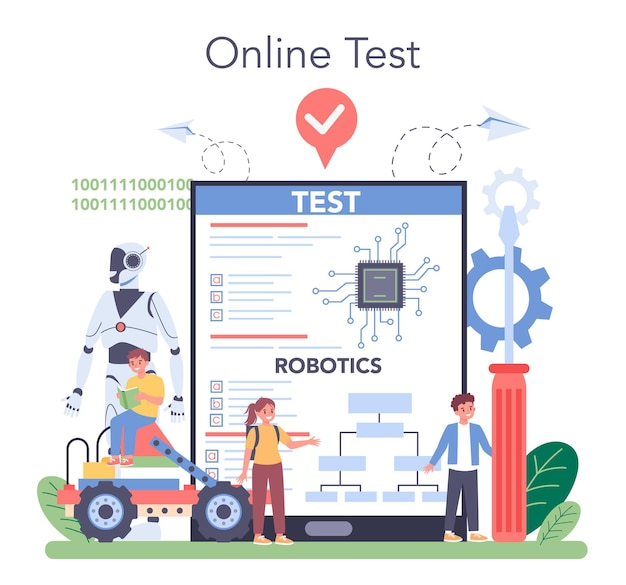 Robotics school subject online service or platform