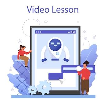Robotics school subject online service or platform