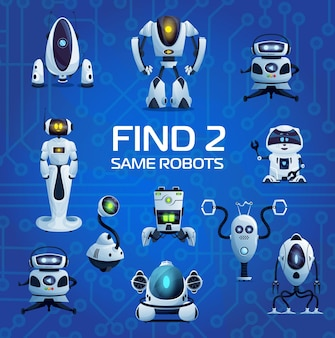 Robots and droids find two same game vector riddle