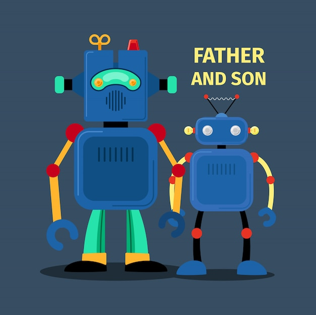 Robots father and son