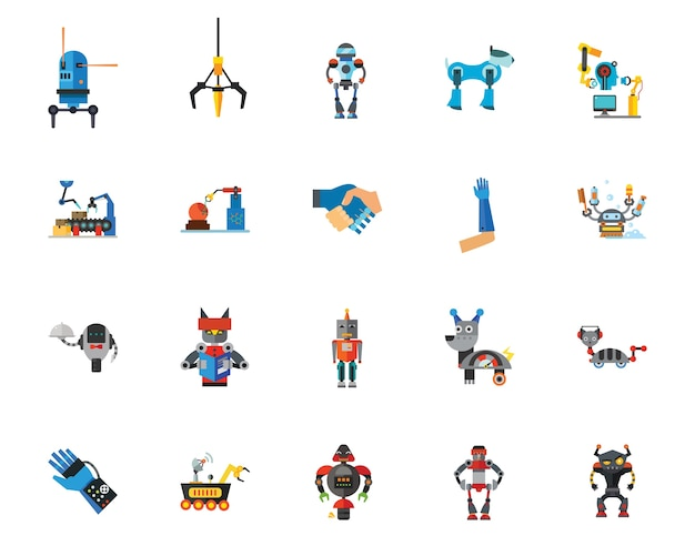 Robots icon set