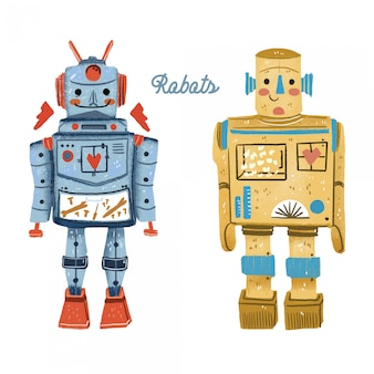 Robots vintage toys
