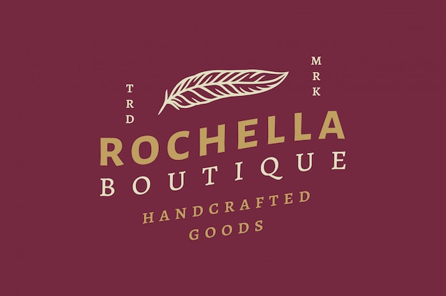 Rochella boutique logo and label design