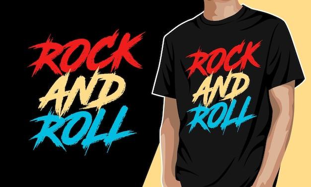 Дизайн футболки в стиле рок-н-ролл