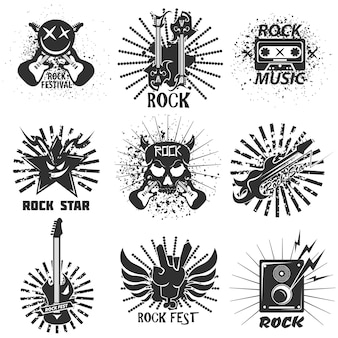 Rock band festival icons