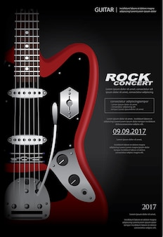 Rock concert poster background template