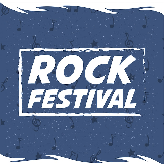 Rock festival entertainment invitation poster