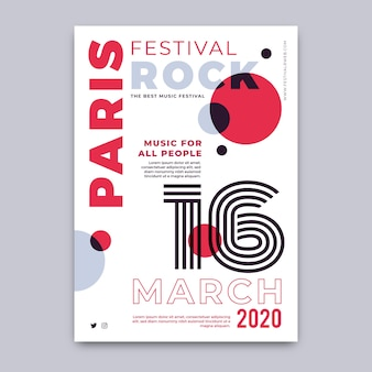 Rock festival in paris poster template