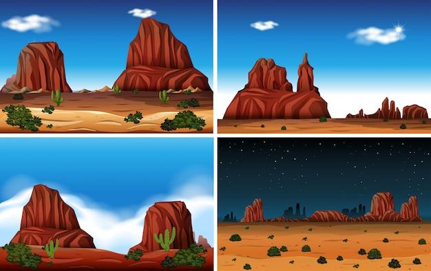 Скальная гора и пустынная сцена