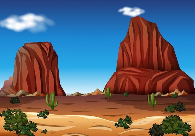 Рок-гора в пустыне