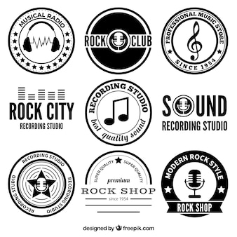 Rock music badges