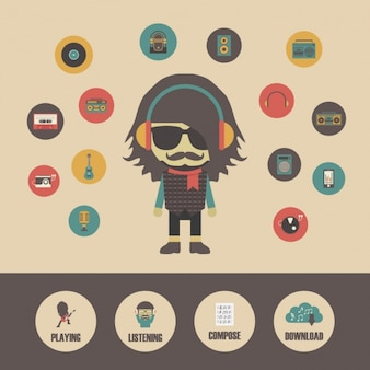 Rock music character