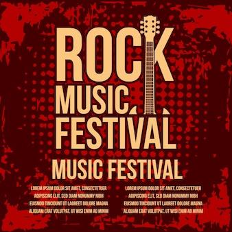 Rock music festival poster