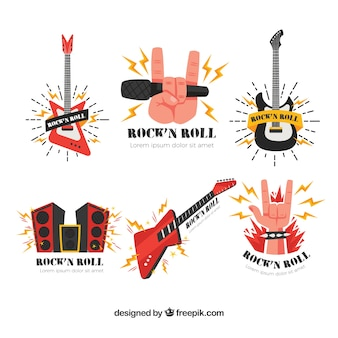 Rock music logo collection