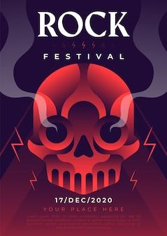 Шаблон плаката рок-музыки
