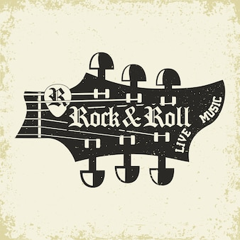 ロックミュージックプリントロックミュージックtシャツプリントスタンプデザイン