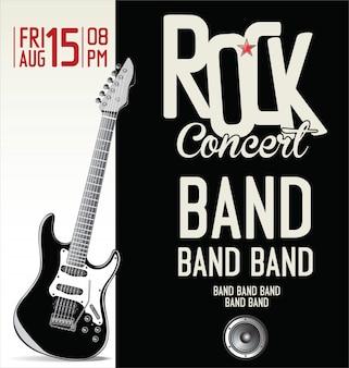 Rock music retro poster