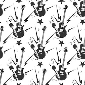 Rock music seamless pattern