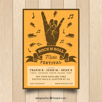 Rock n roll music poster design