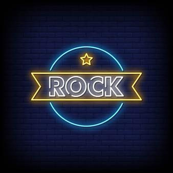 Rock neon signboard