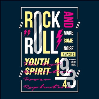 Rock and roll graphic design for print t shirt and other use