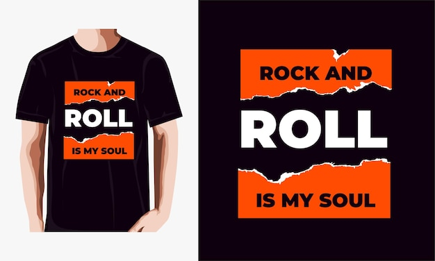 Rock and roll is my soul t-shirt design