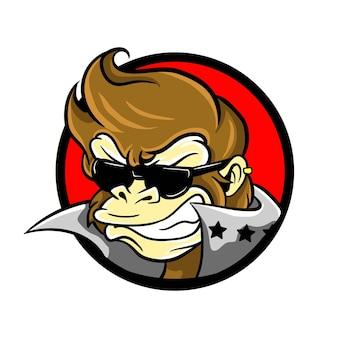 Rock and roll monkey logo