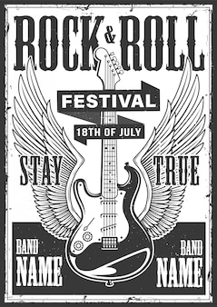 Poster rock and roll