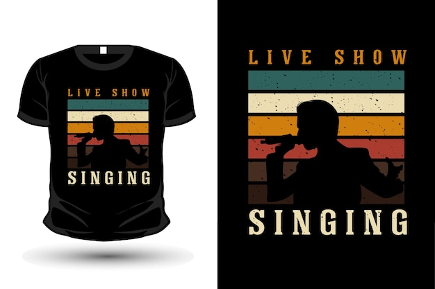 Rock and roll retro merchandise silhouette t shirt