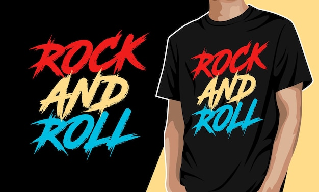 Rock and roll tshirt design