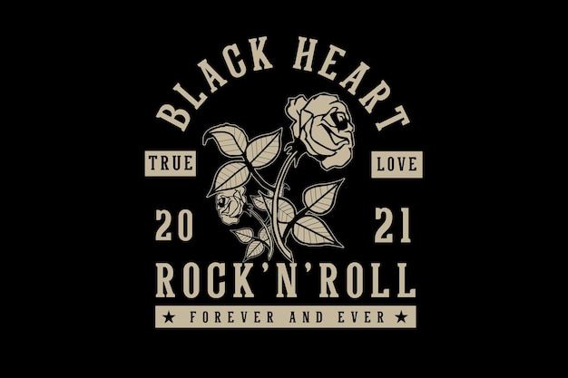 Rock and roll typography design
