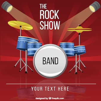 Rock show band