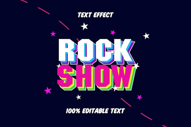 Rock show editable text effect