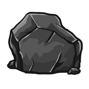 Rock stone boulders cartoon isometric illustration drawing style vector