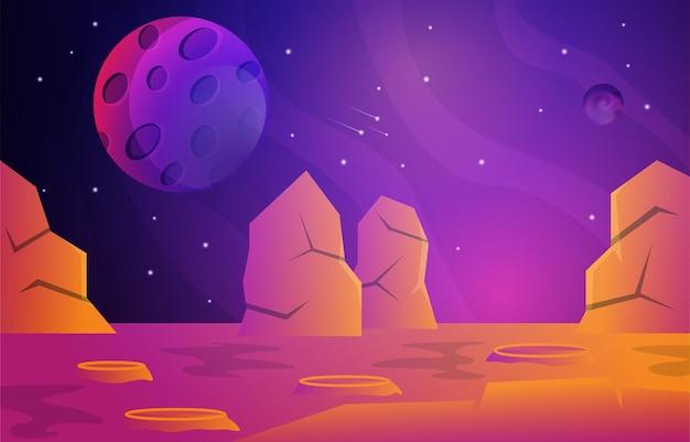 바위 돌 행성 별 하늘 우주 우주 탐사 삽화