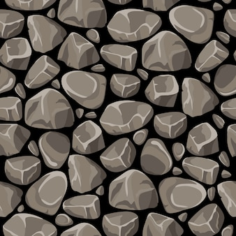 Rock stone seamless pattern