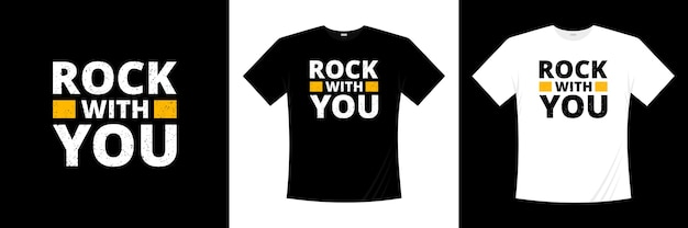 Рок с вами типографика дизайн футболки. одежда, модная футболка, иллюстрация