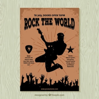 Rock the world poster