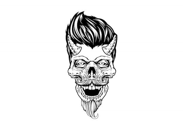 Rockabilly skull devil