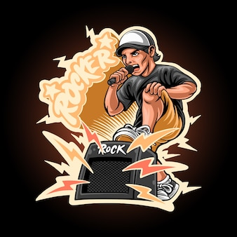 Rocker guy illustration