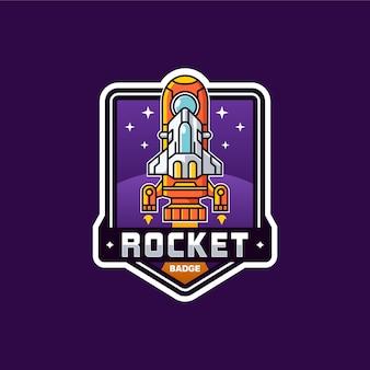 Rocket badge template