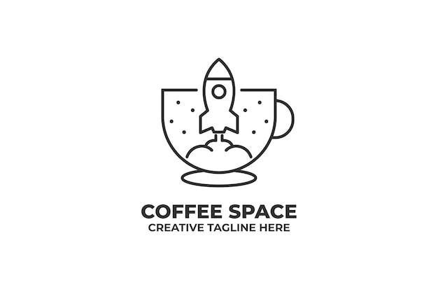 Ракета кофейня кафе бизнес логотип