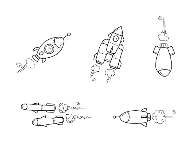 Rocket collection doodle
