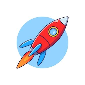 로켓 비행 그림입니다. 로켓 아이콘 개념 절연입니다.