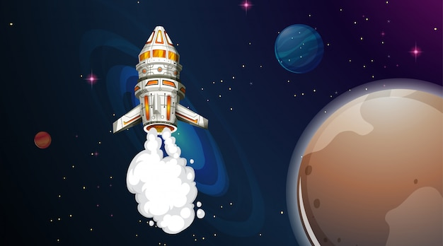 Ракета летит в космос