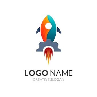 Логотип rocket + gear