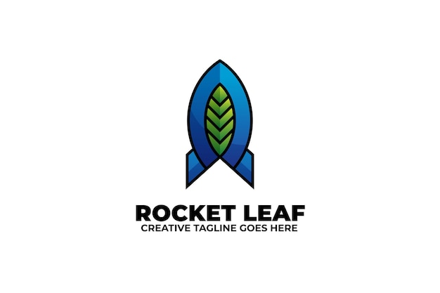 Rocket gradient logo